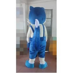 Deluxe Blue Fox Mascot Costume