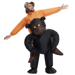 Adult Inflatable Riding Gorilla Costume Animal Cosplay Costumes
