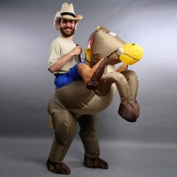 Inflatable Cowboy Costume Ride On Horse Costumes