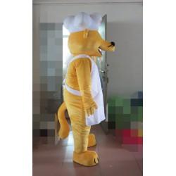 Yellow Weasel Mascot Costume