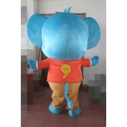 Blue Elephant Mascot Costumes Huge Mascot Costume