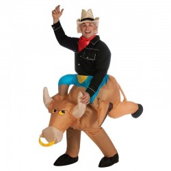 Inflatable Cowboy Bull Costume Funny Game Costumes