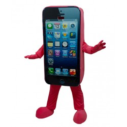 Red Cell Phone Apple Iphone Mascot Costume