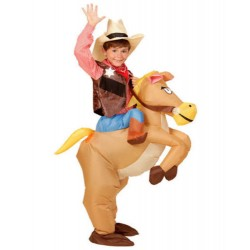 Inflatable Dinosaur Horse Cowboy Unicorn Costume For Kids
