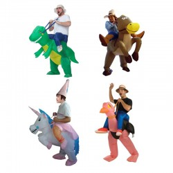 Inflatable Dinosaur & Cow Costume Adult Animal Dino Rider