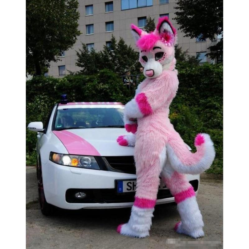sc 1 st  Mascot & Pink Fursuit Husky Wolf Fox Mascot Costume