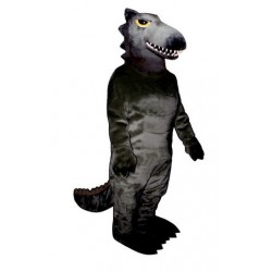Cool Black Dinosaur Mascot Costume