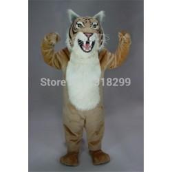 Tan Bobcat Wildcat Mascot Costume
