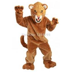 Fierce Mountain Lion Mascot Costume