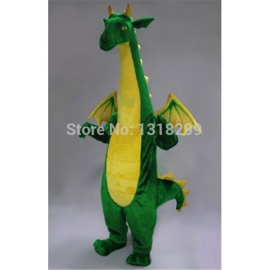 Green Fantasy Dragon Mascot Costume