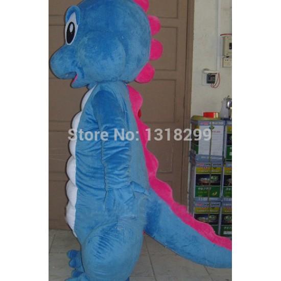 Blue Dinosaur Dragon Mascot Costume
