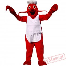 Animal Lobster Chef Mascot Costume for Adult & Kids