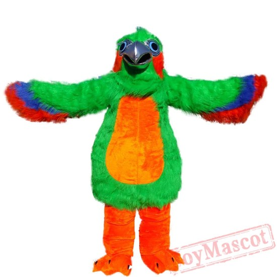 Animal Green Eagle Mascot Costume for Adult & Kids