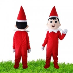 Adult Christmas Boy Mascot Costume