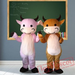 Cow Cartoon Mascot Costumes for Adult