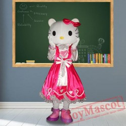 Hellokitty Cat Mascot Costumes for Adult