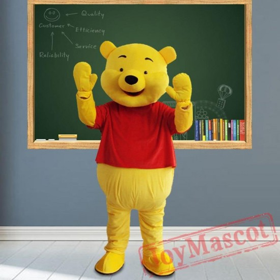 Winnie The Pooh Mascot Costumes for Adult