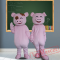 Happy Pig Mascot Costumes for Adult