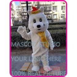 Plush White Polar Bear Mascot Costume