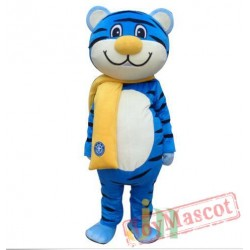 Adult Blue Tiger Mascot Costume