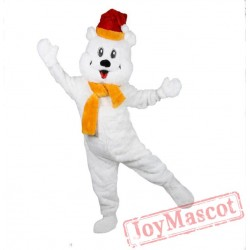 Polar Bear Adult Mascot Costume Plush