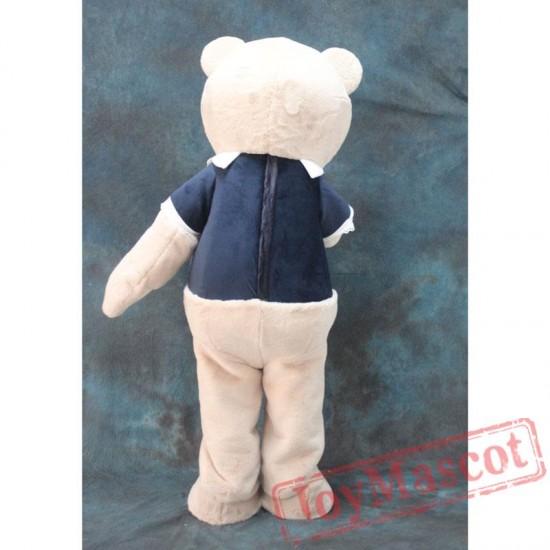 Adult Fur Teddy Bear Mascot Costume