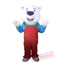 Professional Adult Bear Mascot Costume Red Pants