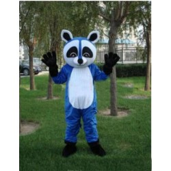 Cartoon Character Lovely Blue Bear Adult Mascot Costume