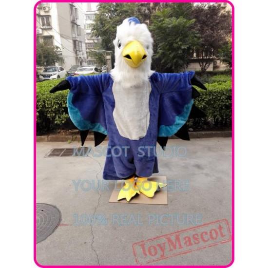 Blue Hawk Mascot Costume Eagle Falcon Adult Costume