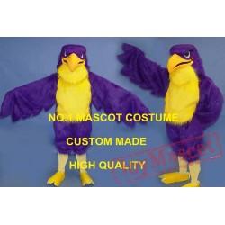 Purple Falcon Mascot Costume