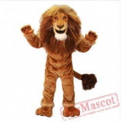 Power Lion King Mascot Costume Adult
