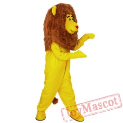 Yellow Lion Mascot Costume