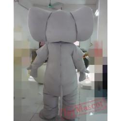Animal Cartoon Big Gray Elephant Mascot Costume