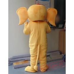 Animal Cartoon Plush Little Yellow Elephant Mascot Costume