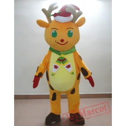 Animal Cartoon Christmas Deer Mascot Costume