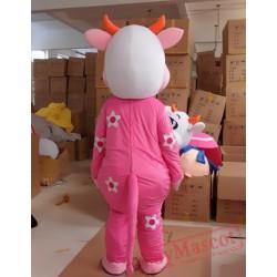 Animal Cartoon Plush Cow Mascot Costume