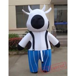 Animal Cartoon Fat Cow Mascot Costume