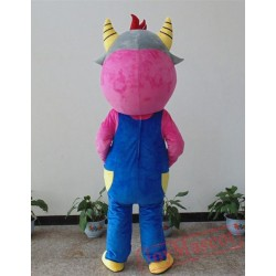 Animal Cartoon Plush Bib Bull Mascot Costume
