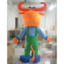 Animal Cartoon Plush Bull Mascot Costume