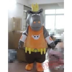 Animal Cosplay Cartoon Hippo Mascot Costume