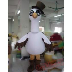 Animal Cartoon Hat Egret Mascot Costume