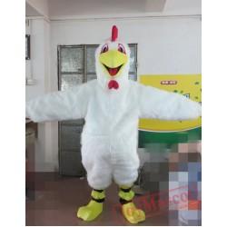Animal Cartoon White Cock Mascot Costume