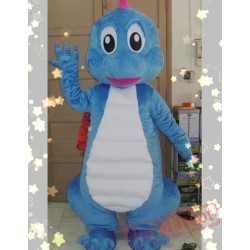 Animal Cartoon Blue Dragon Mascot Costume