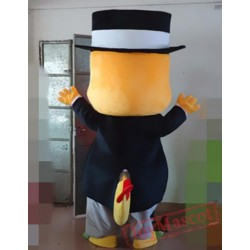 Animal Cartoon Gentleman Dragon Mascot Costume