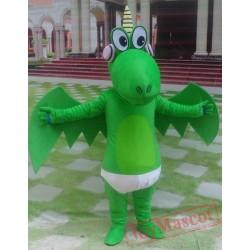 Animal Plush Cartoon Green Pterosaur Mascot Costume