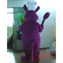 Animal Cartoon Plush Cosplay Purple Kangaroo Mascot Costume