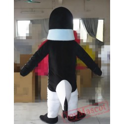 Cartoon Gentleman Penguin Mascot Costume