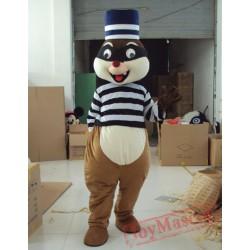Animal Cartoon High Hat Squirrel Mascot Costume