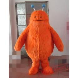 Animal Into Orange Bear Mascot Costume