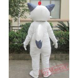 Animal Cartoon Cosplay White Fox Mascot Costume